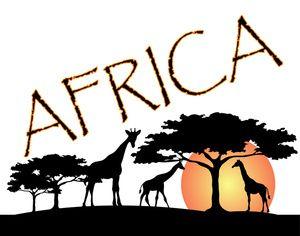 Logos clip art image. African clipart design