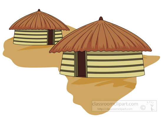 Africa Clipart- african-hut-yellow-africa-clipart - Classroom Clipart