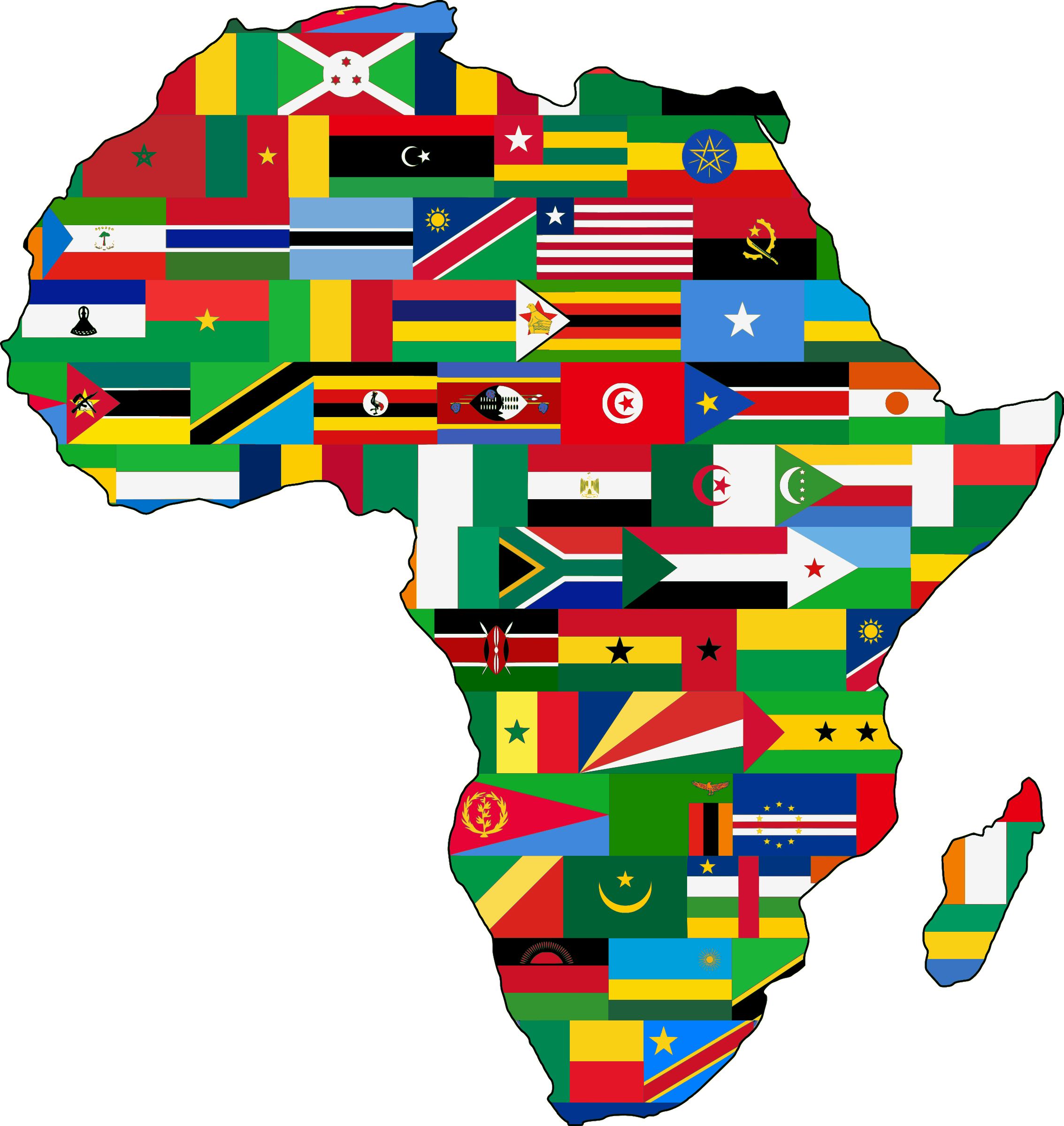 Africa flags big image. Contractor clipart constuction
