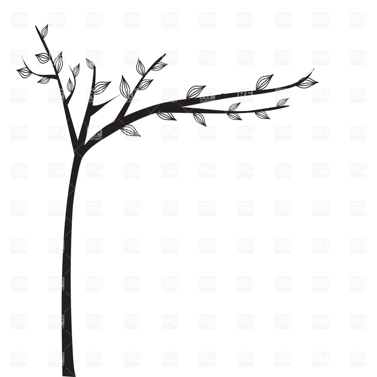 African clipart abstract. Black and white tree