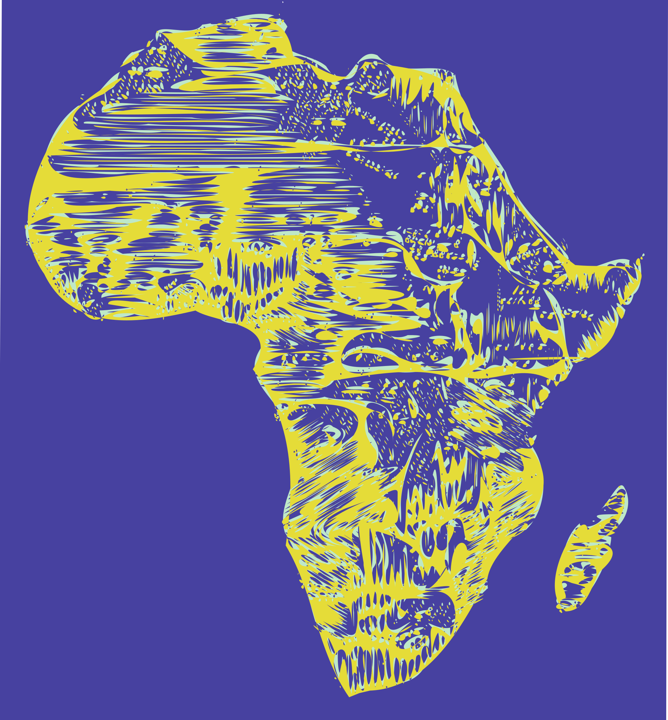 Africa big image png. African clipart abstract