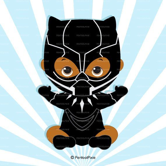 Baby black panther . African clipart african american