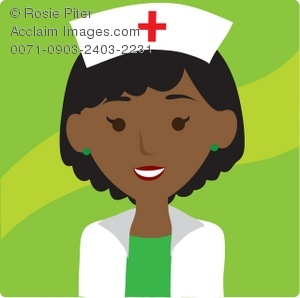 African clipart african american. Illustration of an nurse