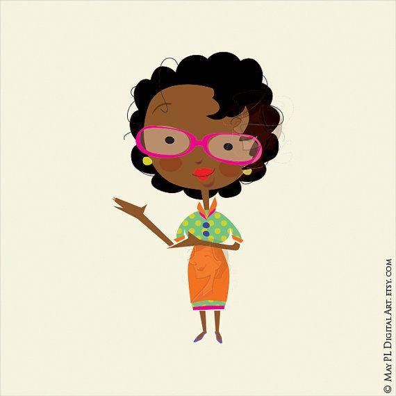 African clipart african american. Woman teacher classroom clip