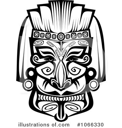 African clipart african mask. Illustration by vector tradition