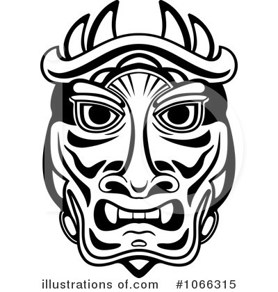 Illustration by vector tradition. African clipart african mask