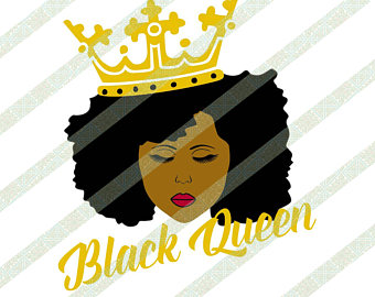 Side afro puff svg. African clipart african queen
