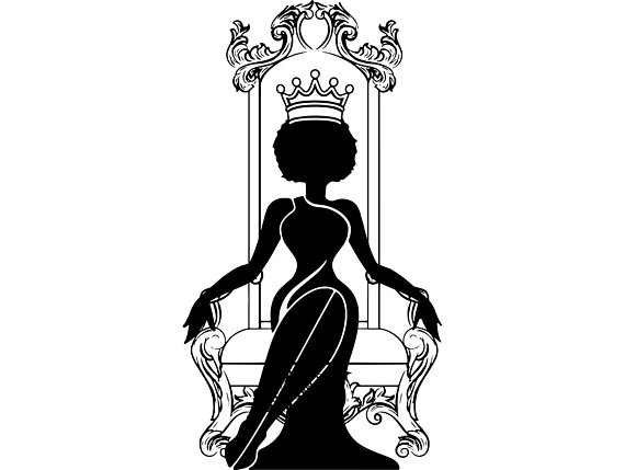 African clipart african queen. Black woman nubian princess