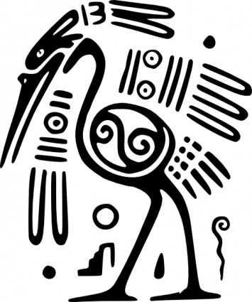 African clipart ancient. Mexico motif bird clip