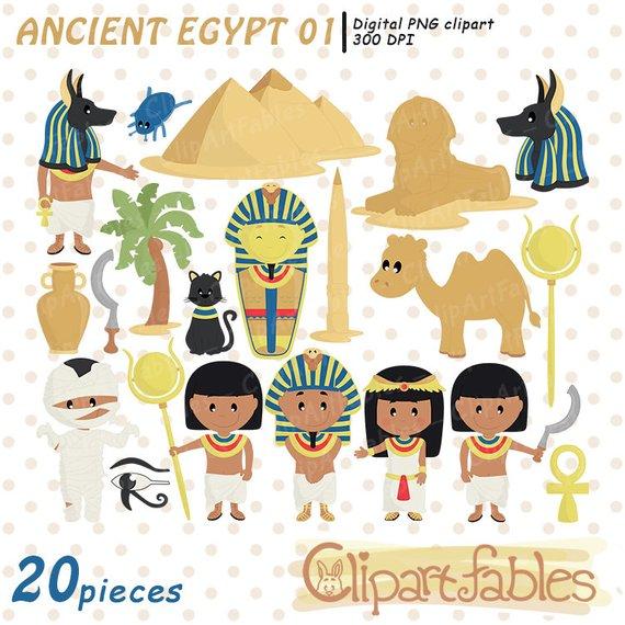 African clipart ancient. Egypt clip art kit