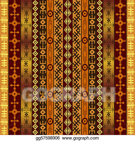 African clipart background. Motifs on ethnic stock
