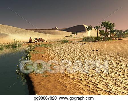 Stock illustration beautiful natural. African clipart background