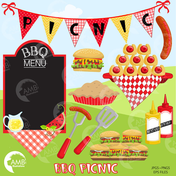 Picnic barbecue party this. African clipart backyard bbq