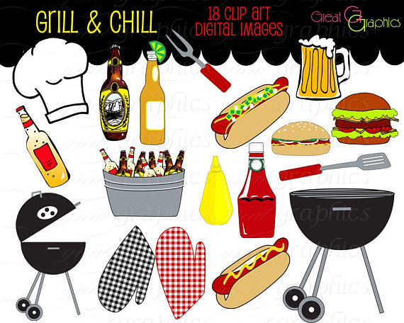 Party clip art cooking. African clipart backyard bbq
