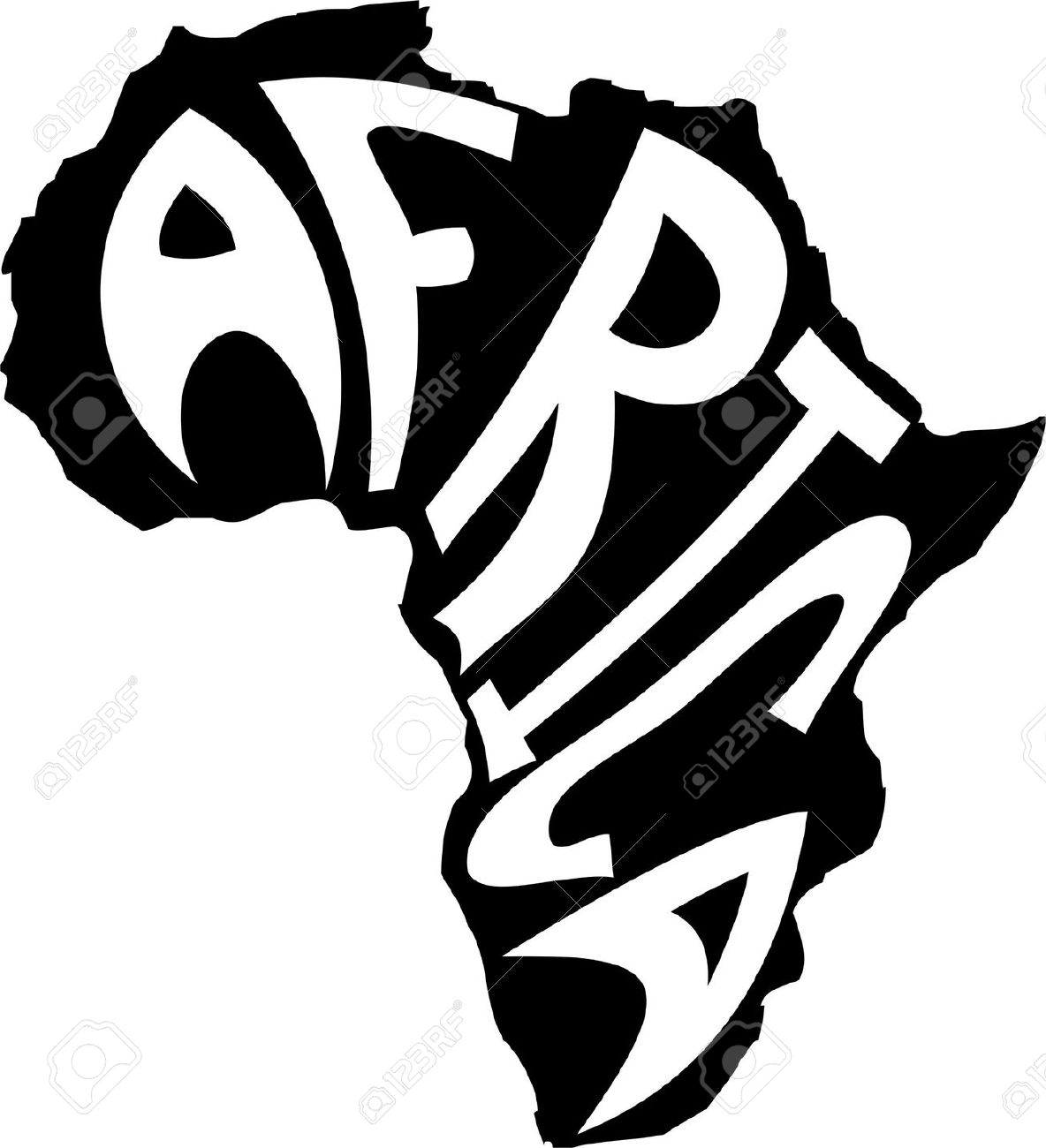 Awesome africa design digital. African clipart black and white