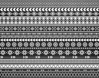 Tribal borders ethnic clip. African clipart boarder