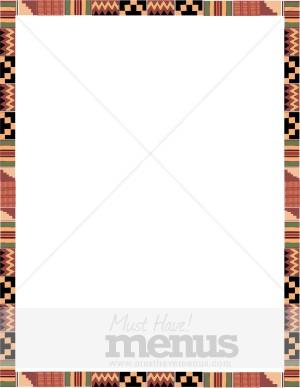 African clipart boarder. Kente cloth border menu