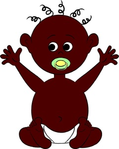 African clipart cartoon. Free american baby image