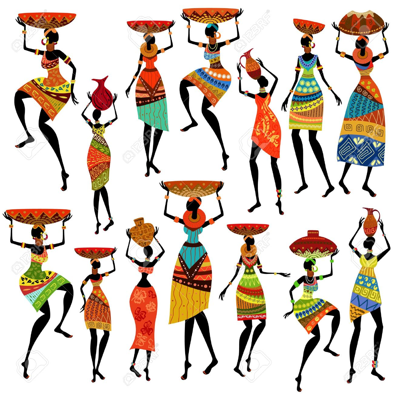 Africa dancing pencil and. African clipart cartoon