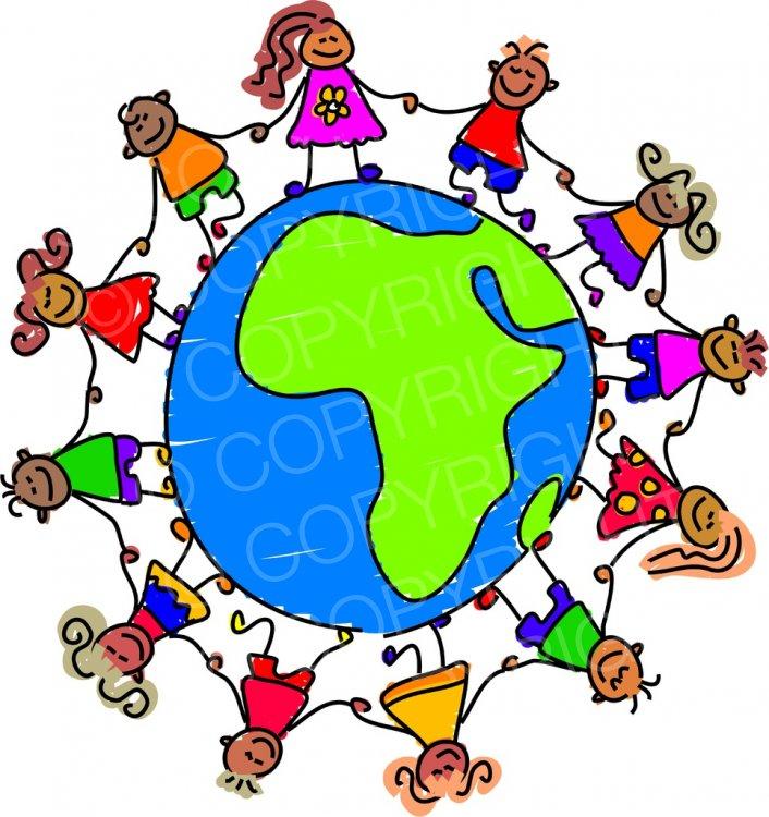 Toddler art globe children. African clipart cartoon