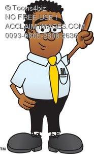 Stock illustration of american. African clipart cartoon