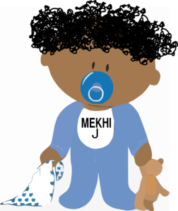 American baby boy clip. African clipart child african