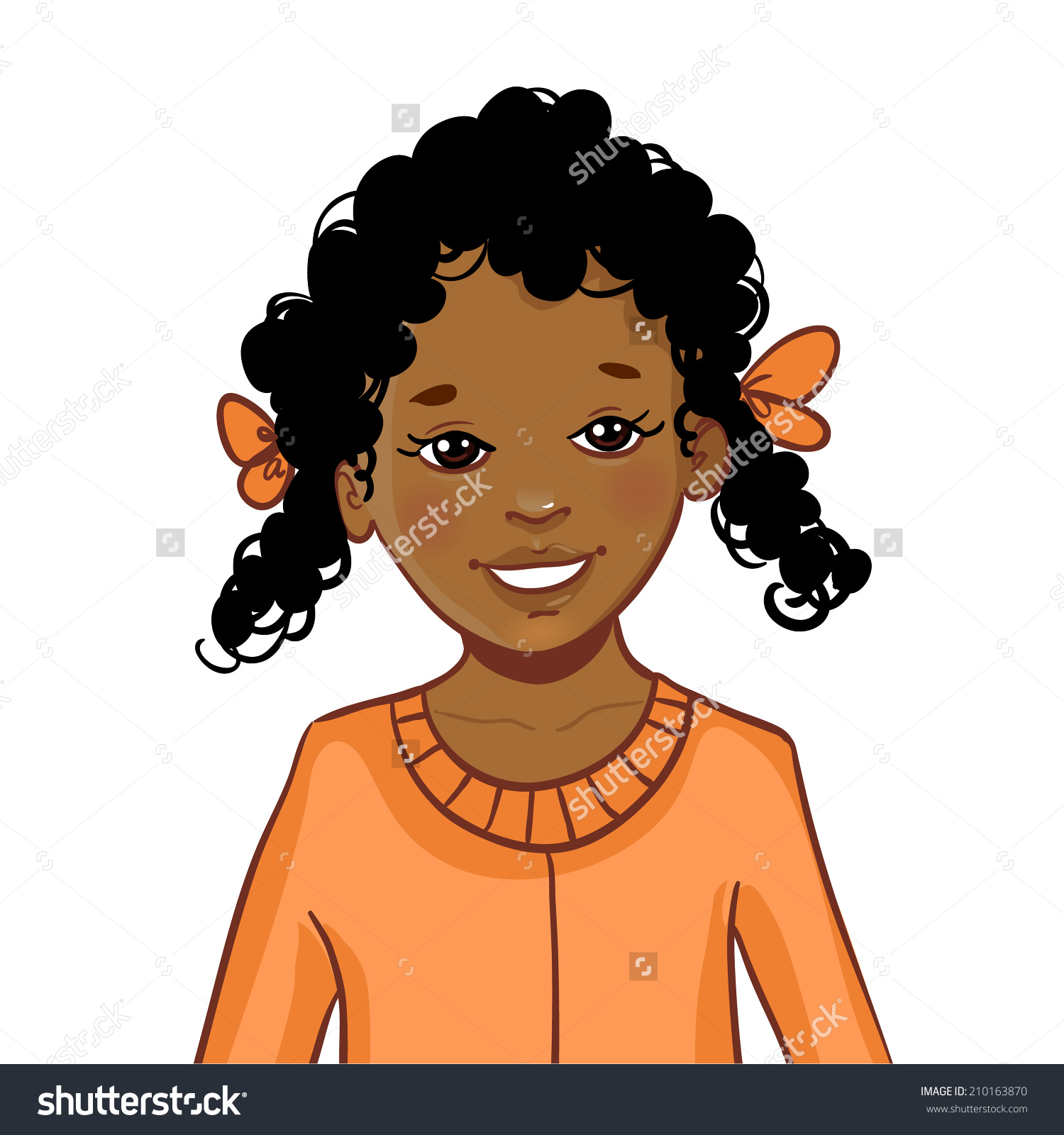 collection of girl. African clipart child african