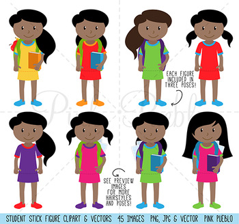 Huge pack of american. African clipart clip art