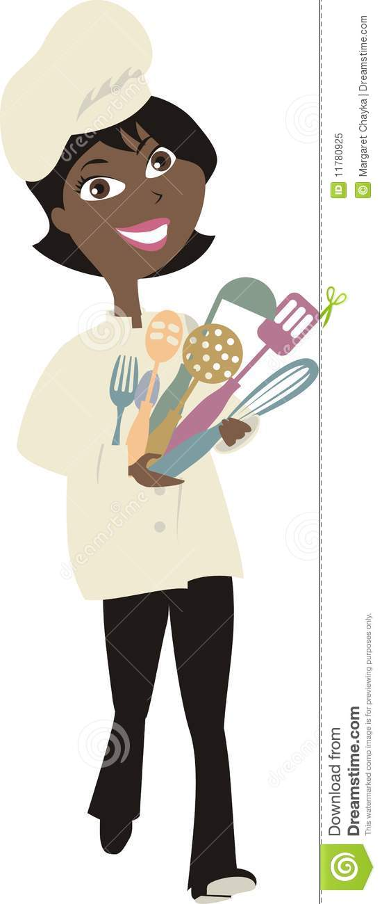 American woman . African clipart cooking
