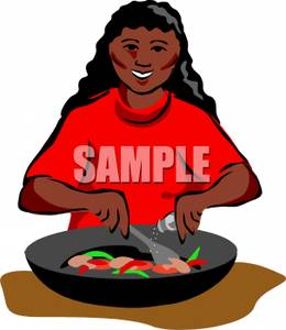 American . African clipart cooking