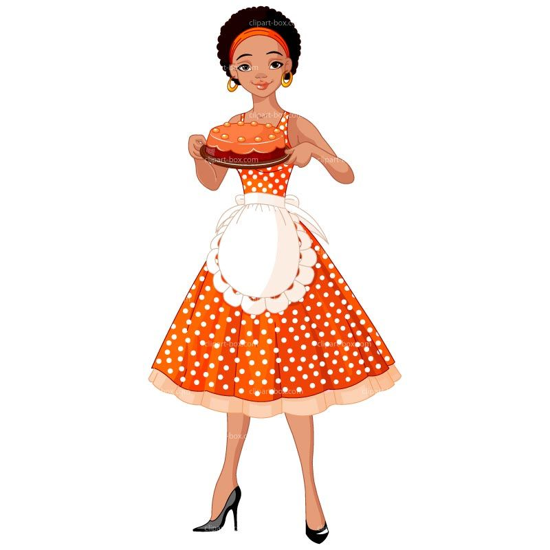 Lady pinterest. African clipart cooking