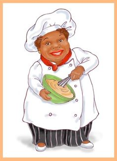 African clipart cooking. Chef cartoon and attendant