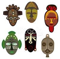 Masks stock vectors me. African clipart cultural