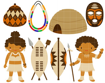 Tribe etsy africa zulu. African clipart culture african