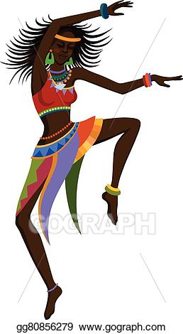 African clipart dance african. Vector stock ethnic woman