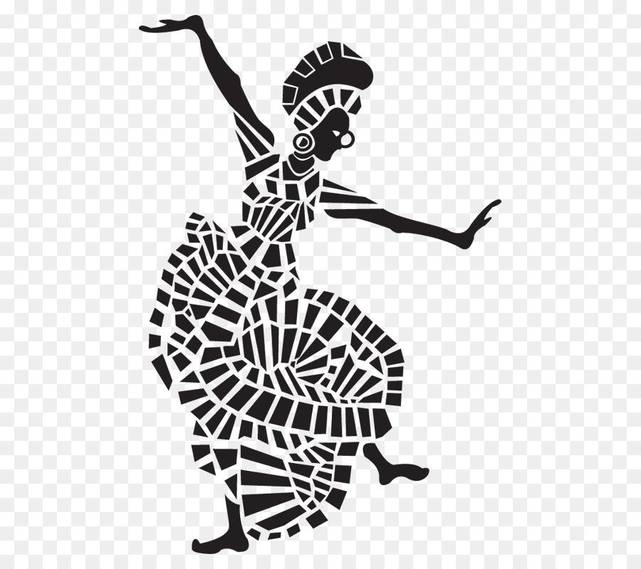 Dance clip art sticker. African clipart dancer african