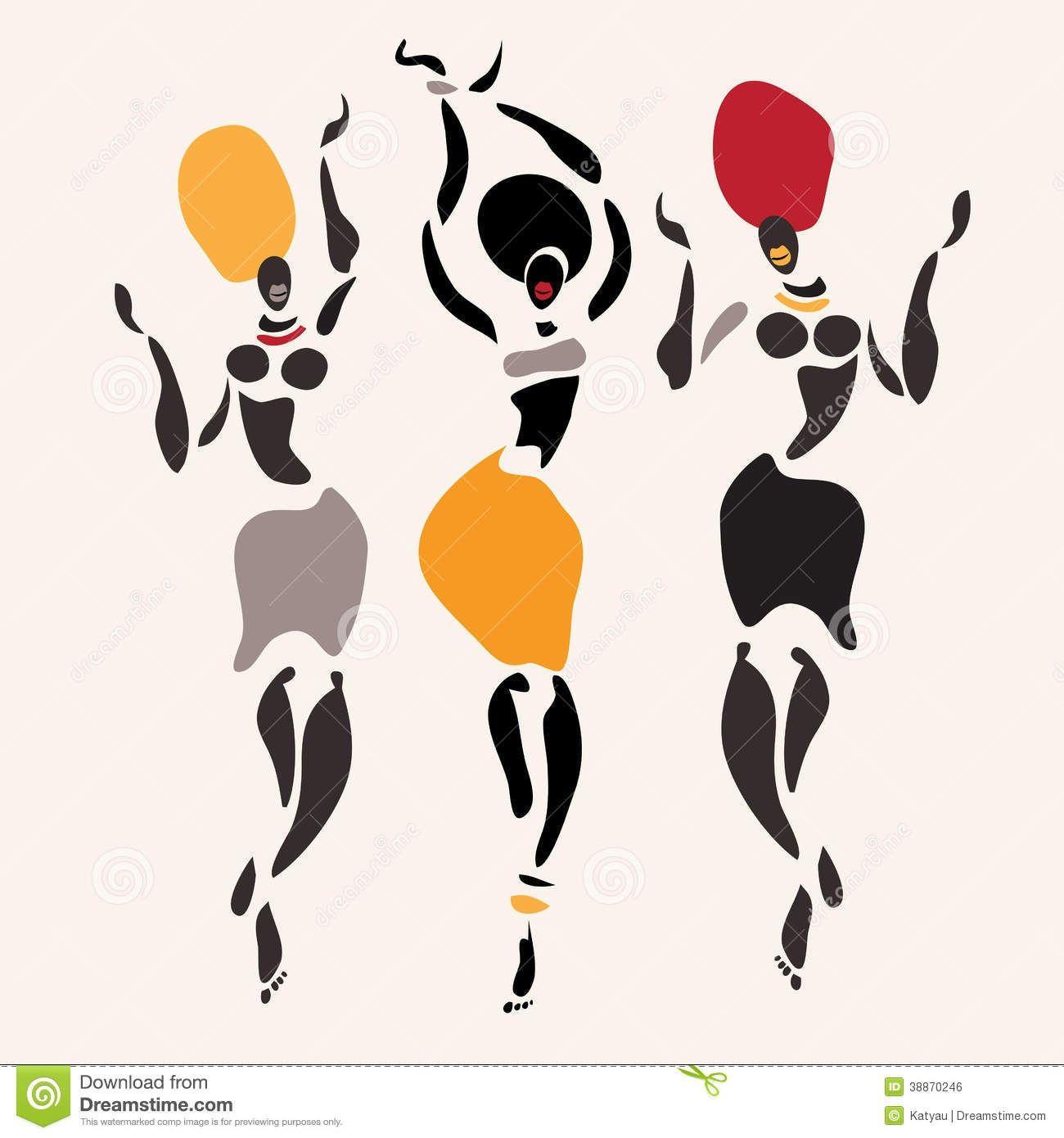 figures of dancers. African clipart dancer african