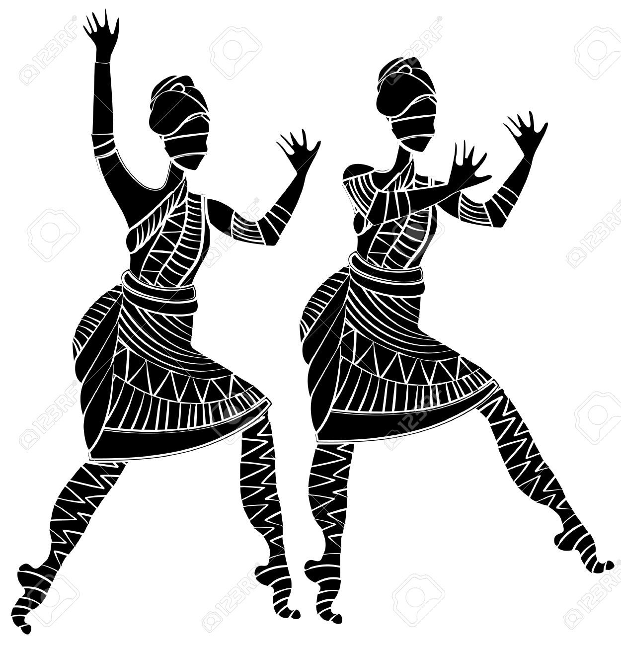 Religion cliparts stock vector. African clipart dancer african