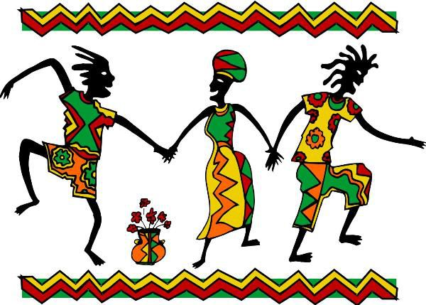Dancing stock kwanzaa picture. African clipart dancer african