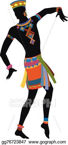 African clipart dancer african. Eps vector ethnic dance