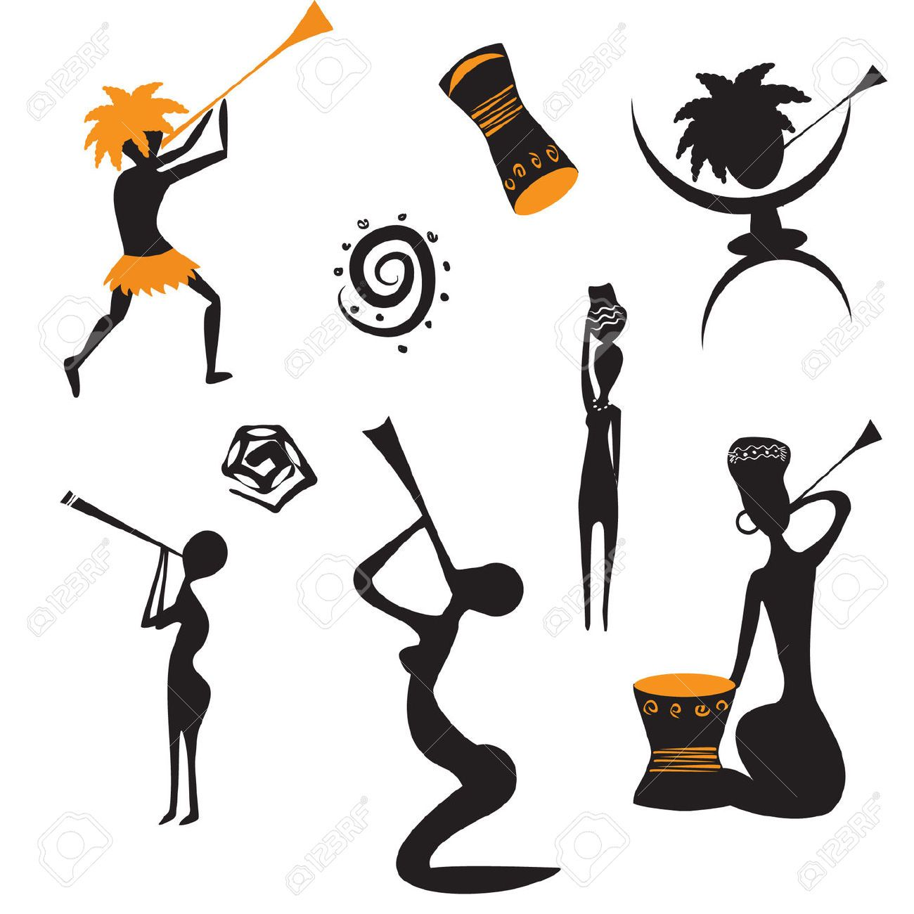 Cliparts stock vector and. African clipart dancer african