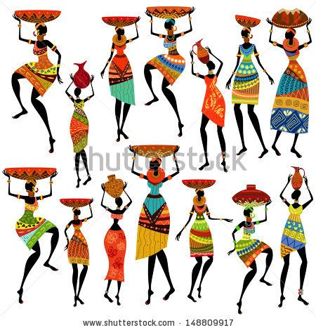 African clipart design.  best africa images