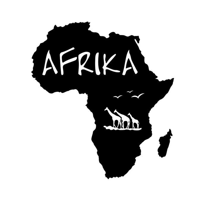African clipart design. Africa continent giraffe graphics