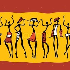 African clipart easy. Dancer silhouette people silhouettes