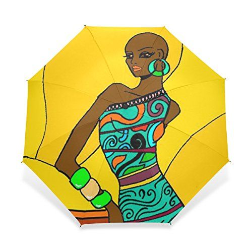 Baihuishop windproof golf umbrella. African clipart easy