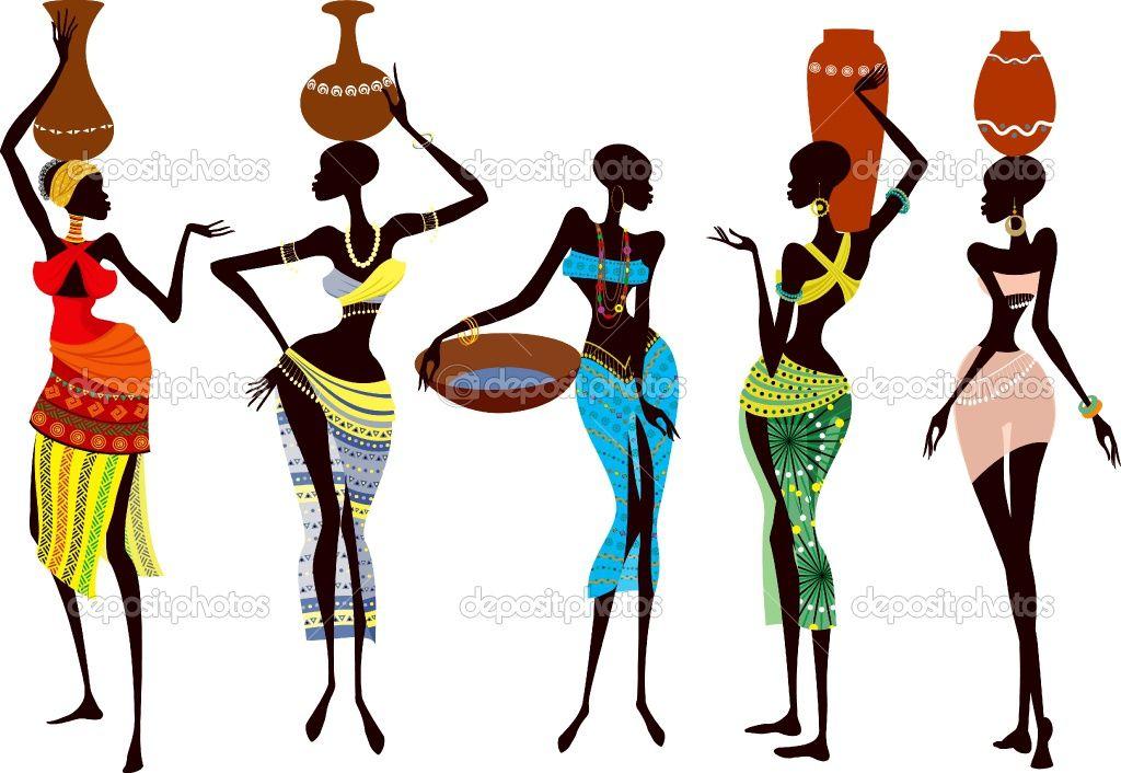 Dep beautiful women jpg. African clipart easy