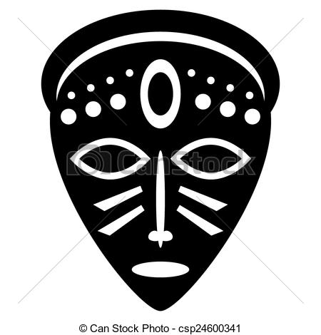 collection of mask. African clipart easy
