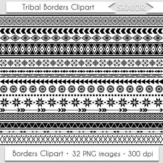 Tribal borders clip art. African clipart ethnic