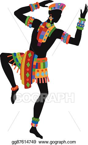 Eps vector dance man. African clipart ethnic