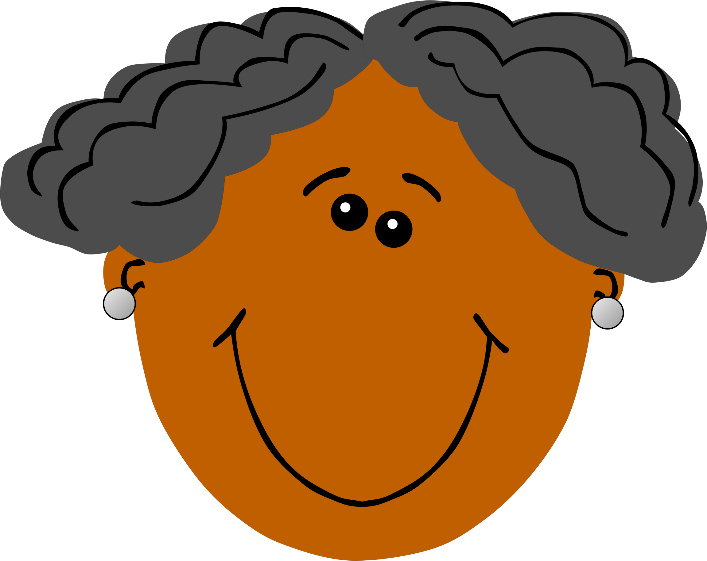 African clipart grandmother. Grandma with dark skin